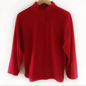 C9 Champion 1/4 Zip Fleece Red Pullover Size XL